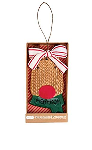 Mud Pie Reindeer Personalized Ornament Approx 5″ x 3″