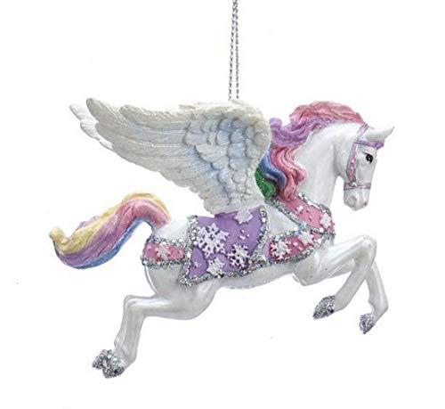 Kurt Adler Pastel Fantasy Horse Ornament – Pegasus