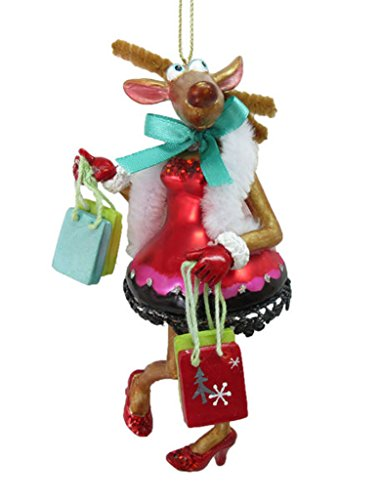 December Diamonds Ornament – Mrs. Shopping Reindeer