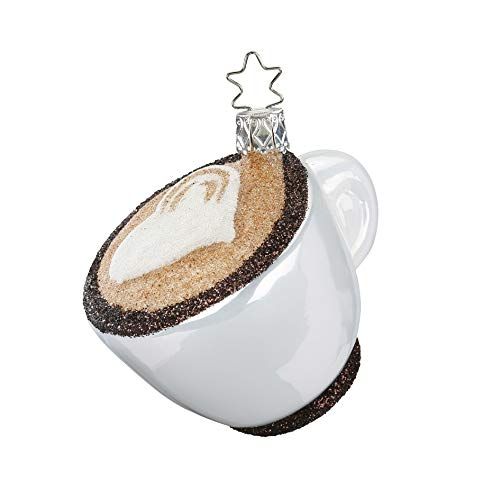 Inge-Glas Cuppa Cappuccino 10095S018 German Glass Christmas Ornament