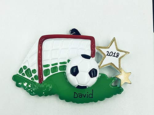 Rudolph and Me Soccer Personalized Christmas Ornament-Handpainted – Free Customization by Gifts Center Ornament