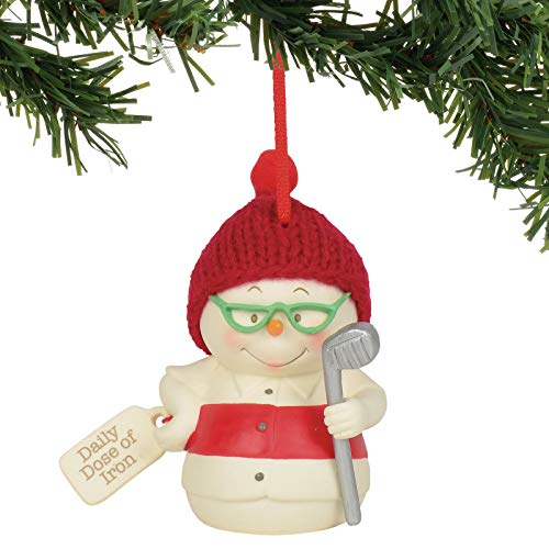Department 56 Snowpinions Daily Dose of Iron Hanging Ornament, 3″, Multicolor