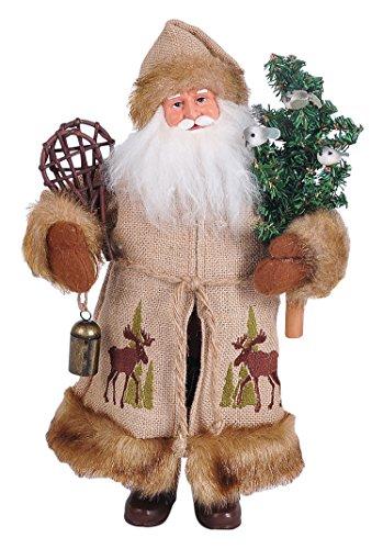 Santa's Workshop 7621 Moose in The Bush Santa Figurine, 15″