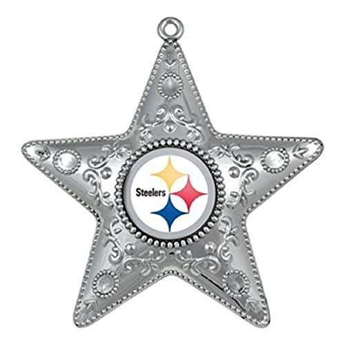 Pittsburgh Steelers 4.5″ Silver Star Christmas Ornament