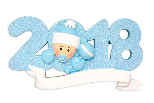 Polar X 2018 Baby's 1st Christmas Ornament Personalized (Blue (Boy))