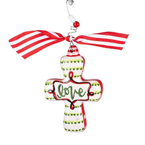 Glory Haus Cross Puff Holiday Ornament (Love)