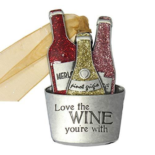 Gloria Duchin Wine Bucket Christmas Ornament Multicolor
