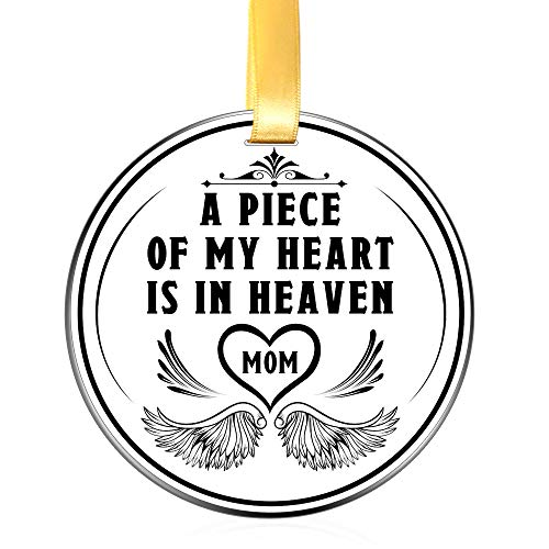 Elegant Chef Mom Memorial Ornament Christmas Keepsake- A Piece of My Heart- Mother Remembrance Sympathy Gift