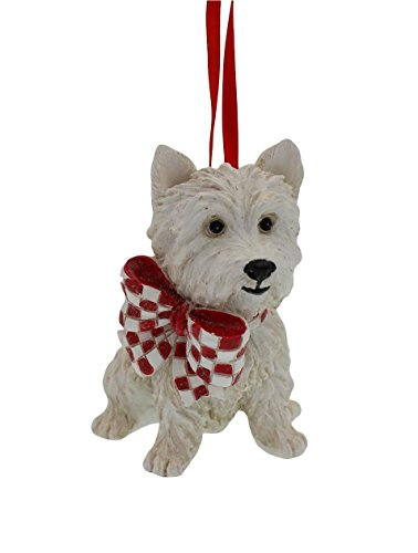 2.75-inch West Highland White Terrier Westie Resin Ornament