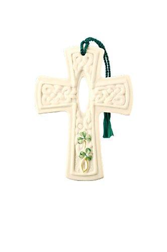 Belleek 3-Inch Dromore Cross, Christmas Ornament