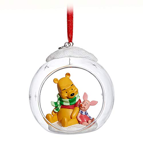 Disney Winnie The Pooh and Piglet Glass Globe Sketchbook Ornament