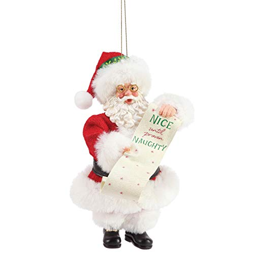 Department 56 Possible Dreams Naughty/Nice Hanging Ornament, 6″, Multicolor