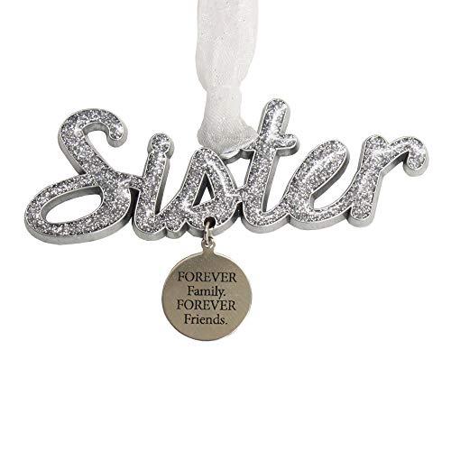 Gloria Duchin Script Sister Word Christmas Ornament Multicolor