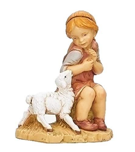 Fontanini 52927 Beth Sitting Girl with Sheep Nativity Figurine 12″ Scale