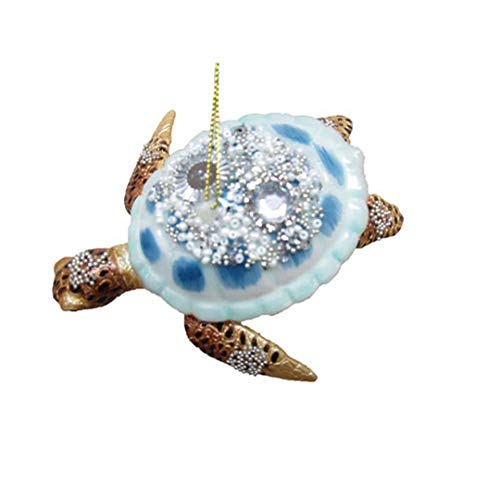 December Diamonds Ornament – Blue Sea Turtle 5″