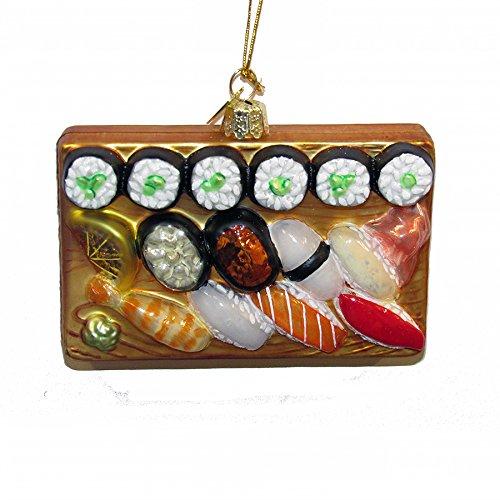 Kurt Adler Noble Gems Sushi Platter Christmas Ornament