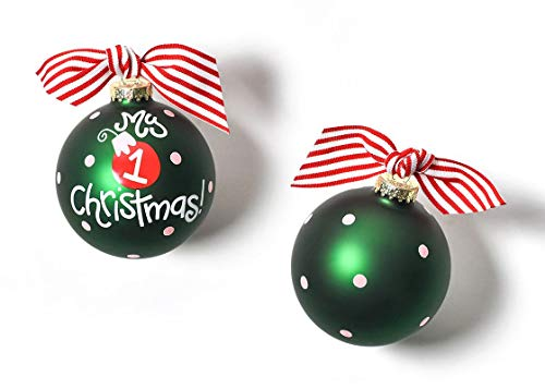 Coton Colors 100 MM Glass My My First Christmas Girl Ornament