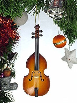 Broadway Upright Bass Musical Instrument Ornament 5 Inches