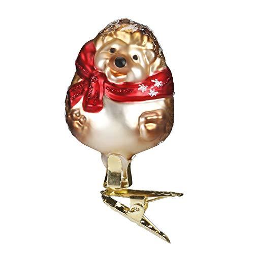 Inge-Glas Baby Hedgehog 10019S018 German Blown Glass Christmas Ornament
