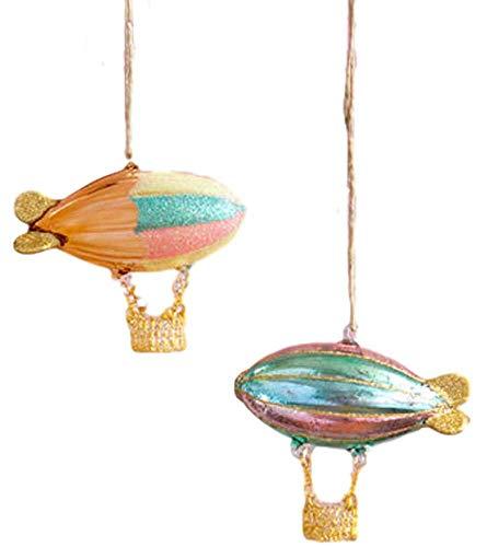 180 Degrees Hot Air Blimp Ornaments Set of 2