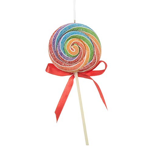 Raz 7″ Rainbow Swirl Claydough Lollipop Christmas Ornament 3920072