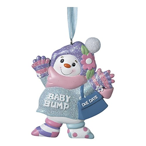 Baby Bump Cute Snowman Ornament