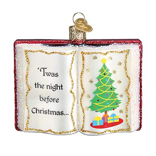 Old World Christmas Glass Blown Ornament with S-Hook and Gift Box, Holiday Collection (The Night Before Christmas, 32381)