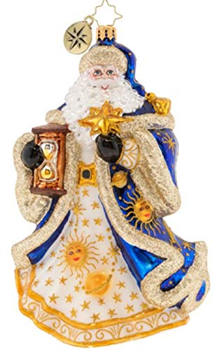 Christopher Radko Celestial Santa Christmas Glass Ornament