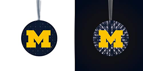 Team Sports America University of Michigan Stargazing Team Logo Matching Ornaments 2-Piece Set