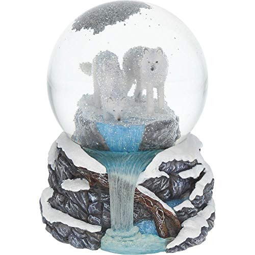 Nemesis Now Warriors of Winter Lisa Parker Snowglobe 17.5cm White, Resin and Glass, One Size