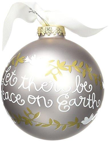 Coton Colors Peace On Earth Glass Ornament
