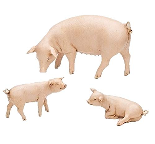 Fontanini 52800 7.5″ Scale Pig Family Set of 3 Nativity Accessory