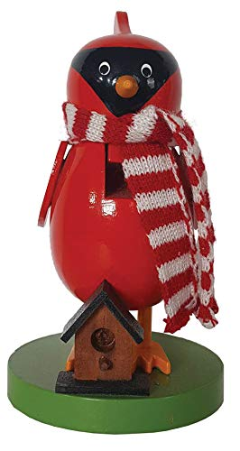 Santa's Workshop Cardinal Nutcracker, 6″ Tall, Red/Green