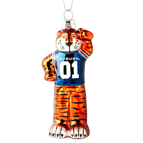 Topperscot NCAA Auburn Tigers Glitter Mascot Holiday Ornament