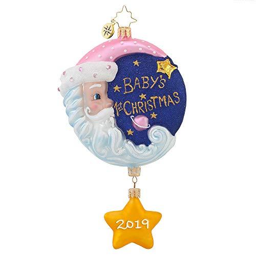 Christopher Radko Sleepytime Santa 2019 Baby Girl Dated Christmas Ornament