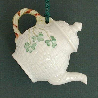 Belleek Basket Weave Teapot Ornament