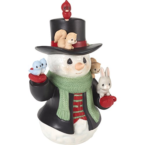 "Precious Moments"" Christmas Cheer for All Snowman Figurine, Multicolor"