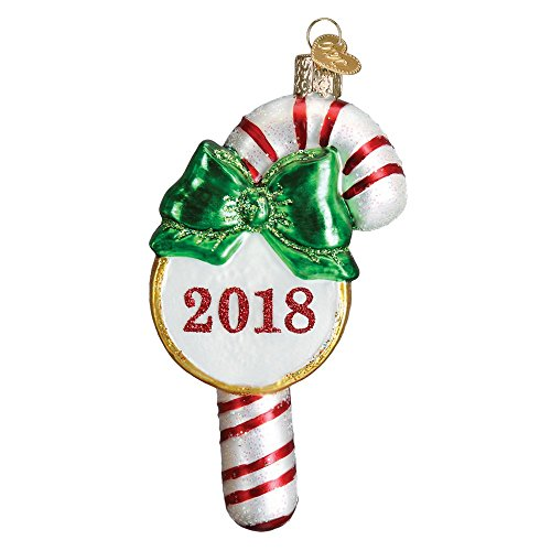 Old World Christmas 2018 Candy Cane Glass Blown Ornament