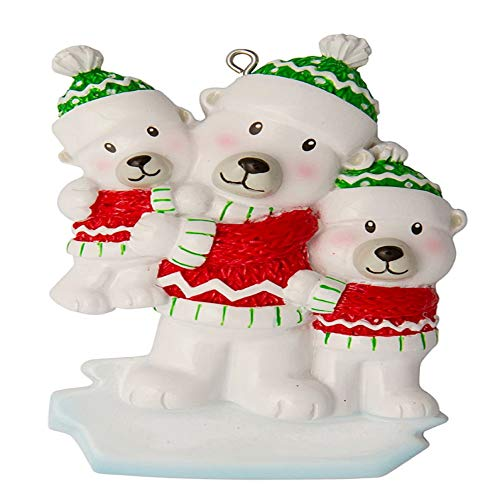 Polar X Single Dad with 2 Children Personalized Christmas Ornament