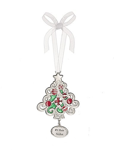 Ganz 2″ Polished Zinc Epoxy Holiday Bright Ornament (#1 Hair Stylist)