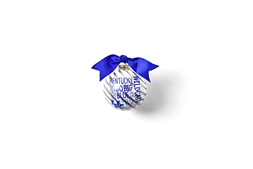 Coton Colors 100 MM Kentucky Word Collage Glass Ornament