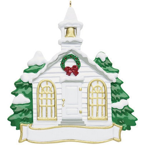 Personalized Church Christmas Tree Ornament 2019 – Garnished Steeple Holy Christian Worship House of God Pray Glory Love Gift Religious Winter Eve Carols Tradition Year – Free Customization