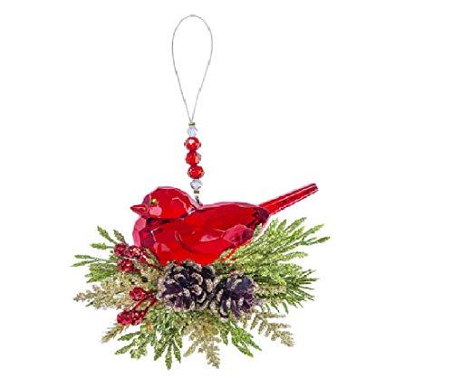 Ganz Krystal Pine Bird Decorative Ornament