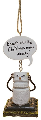Midwest-CBK Toasted Smores Enough with Christmas Music Already Christmas Holiday Ornament