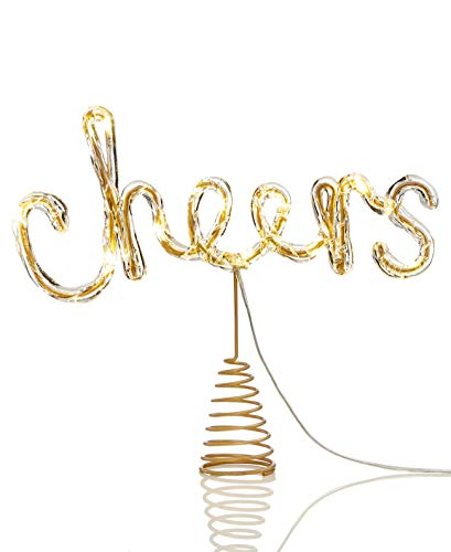 Holiday Lane Led Cheers Tree Topper Ornaments