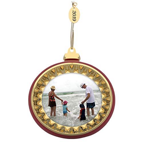 Hallmark Keepsake Christmas Ornament 2019 Dated A Memorable Year Photo Frame, Metal