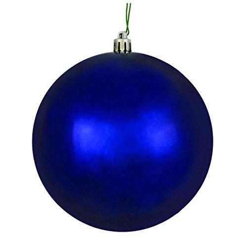Vickerman 570814-4.75″ Midnight Blue Shiny Ball Christmas Tree Ornament (set of 4) (N591231DSV)