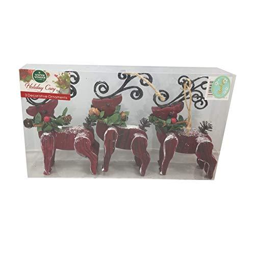 Winter Wonder Lane Christmas Seasonal Holiday Ornaments (Reindeer)