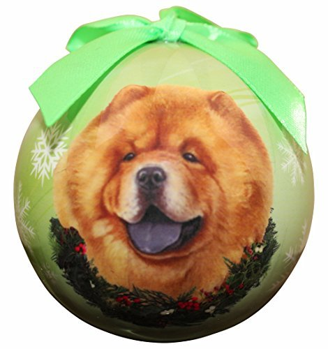 """Chow Christmas Ornament"" Shatter Proof Ball Easy To Personalize A Perfect Gift For Chow Lovers"
