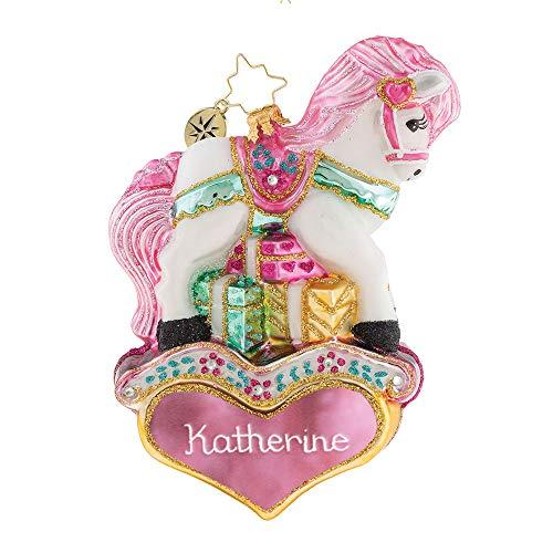 Christopher Radko Princess Pony Girl Personalized Christmas Ornament